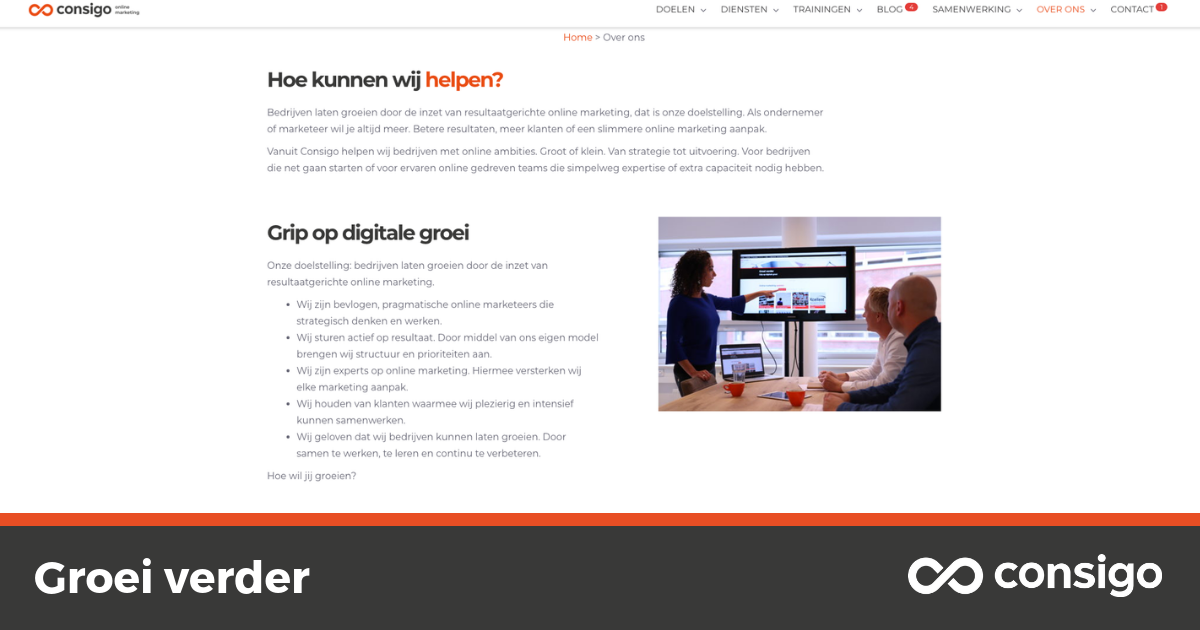 Tips - over ons - pagina