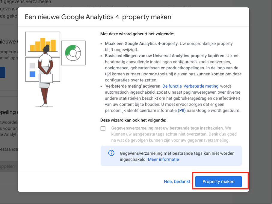 Google Analytics upgraden GA4.5
